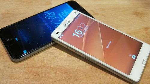 Xperia Z3 Compact от Sony и iphone 6